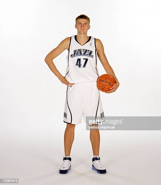 Andrei Kirilenko of the Utah Jazz poses during NBA Media Day on October 2 2006 at the Delta Center in Salt Lake City Utah NOTE TO USER User expressly...