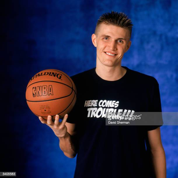 Andrei Kirilenko of the Utah Jazz poses for a portrait during the 2004 NBA AllStar Weekend on February 13 2004 at Staples Center in Los Angeles...