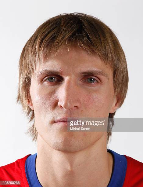 Andrei Kirilenko poses during the 2011/2012 Turkish Airlines Euroleague Basketball Media day on September 25 2011 in Moscow Russia