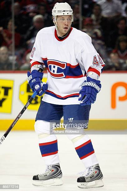 Andrei Kostitsyn of the Montreal Canadiens skates during the game against the New Jersey Devils at the Bell Centre on March 14, 2009 in Montreal,...