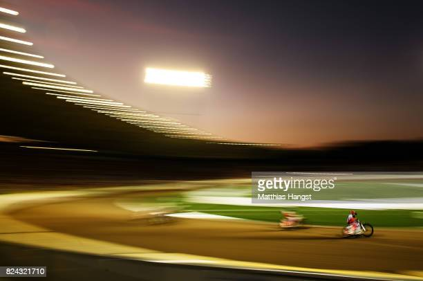 Andrei Kudriashov of Russia competes during the Invitation Sports Speedway competition of The World Games at the Olympic Stadium on July 29 2017 in...