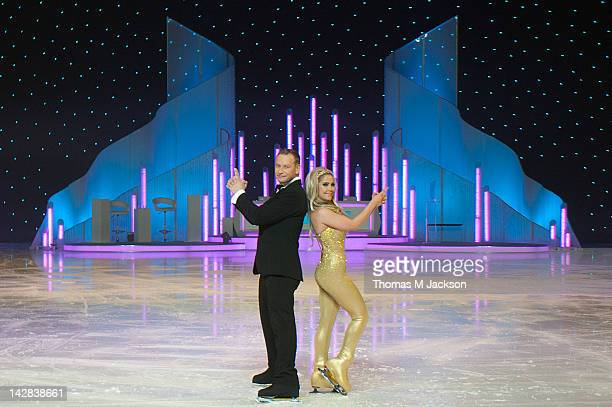 Andrei Lipanov and Heidi Range meet the press ahead of Dancing On Ice The Live Tour at Metro Radio Arena on April 13 2012 in Newcastle upon Tyne...