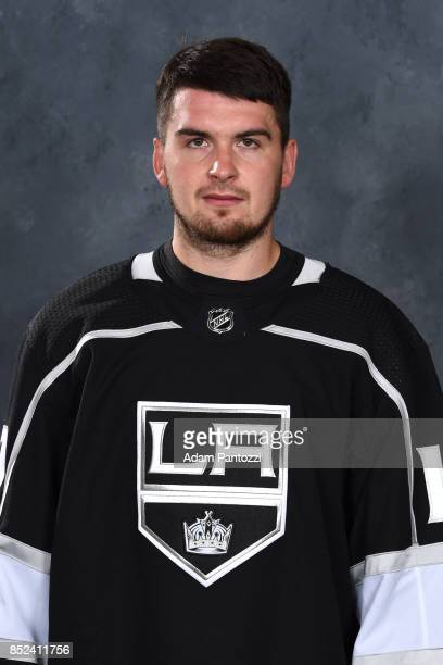 Andrei Loktionov of the Los Angeles Kings poses for his official headshot for the 20172018 season on September 07 2017 at the Toyota Sports Center in...
