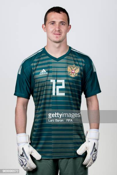 Andrei Lunev of Russia poses for a portrait during the official FIFA World Cup 2018 portrait session at Federal Sports Centre Novogorsk on June 8...