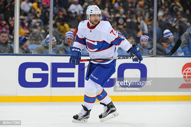 Andrei Markov of the Montreal Canadiens skates against the Boston Bruins during the 2016 Bridgestone NHL Winter Classic on January 1 2016 at Gillette...