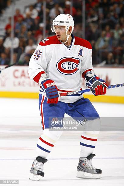 Andrei Markov of the Montreal Canadiens skates during a preseason game against the Ottawa Senators at Scotiabank Place on September 19, 2009 in...
