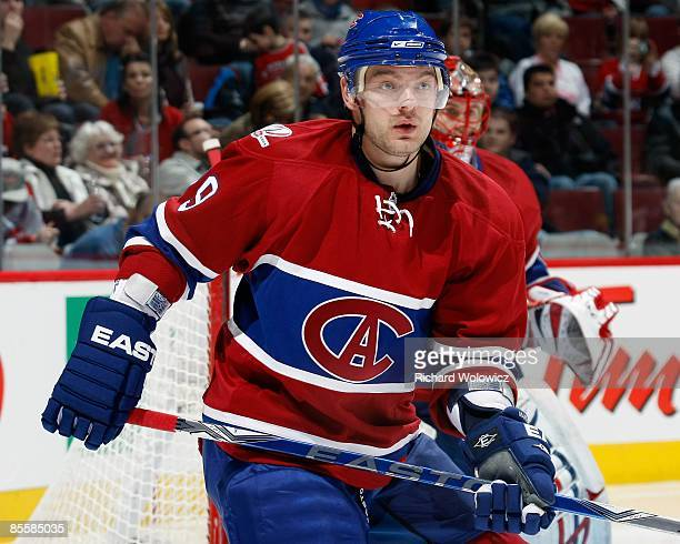 Andrei Markov of the Montreal Canadiens skates during the NHL game against the Toronto Maple Leafs at the Bell Centre on March 21, 2009 in Montreal,...