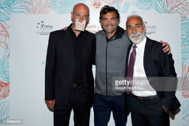 Andrei Medvedev Sergi Bruguera and Mansour Bahrami attend the Legends Of Tennis Dinner as part of 2019 French Tennis Open at on June 05 2019 in Paris...