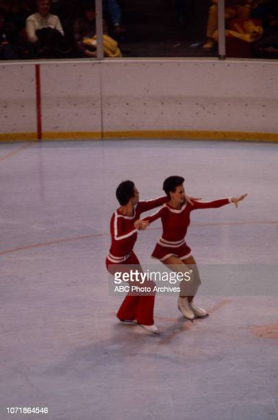 Andrei Minenkov Irina Moiseeva competing in the Ice Dancing figure skating event at the 1980 Winter Olympics / XIII Olympic Winter Games Olympic...