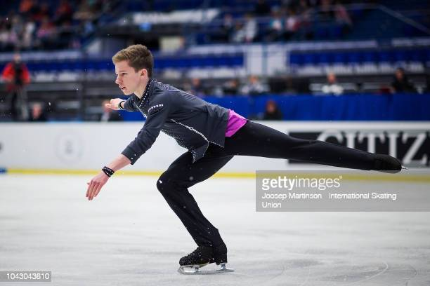 Andrei Mozalev of Russia competes in the Junior Men's Free Skating during the ISU Junior Grand Prix of Figure Skating at Ostravar Arena on September...