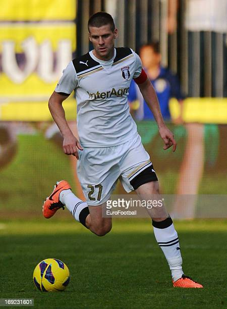 Andrei Muresan of FC Astra Ploiesti in action during the Romanian First Division match between FC Petrolul Ploiesti and FC Astra Ploiesti held on May...