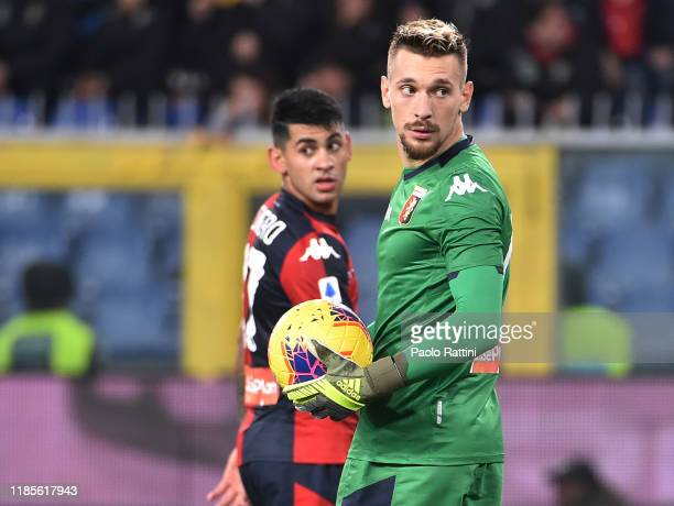 Andrei Radu goalkeeper of Genoa CFC during the Serie A match between Genoa CFC and Torino FC at Stadio Luigi Ferraris on November 30 2019 in Genoa...