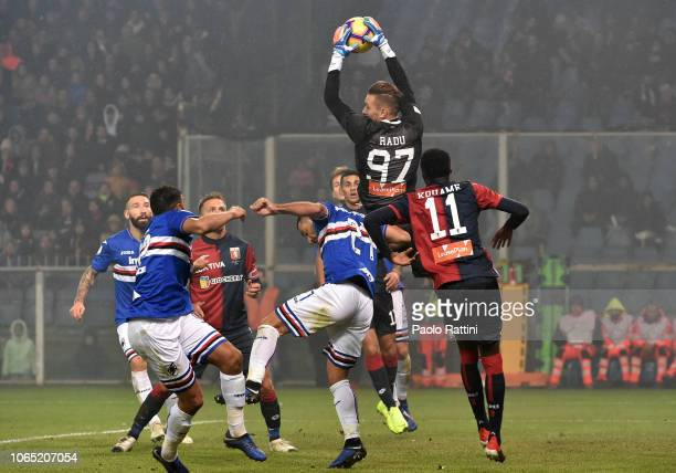 Andrei Radu goalkeeper of Genoa during the Serie A match between Genoa CFC and UC Sampdoria at Stadio Luigi Ferraris on November 25 2018 in Genoa...