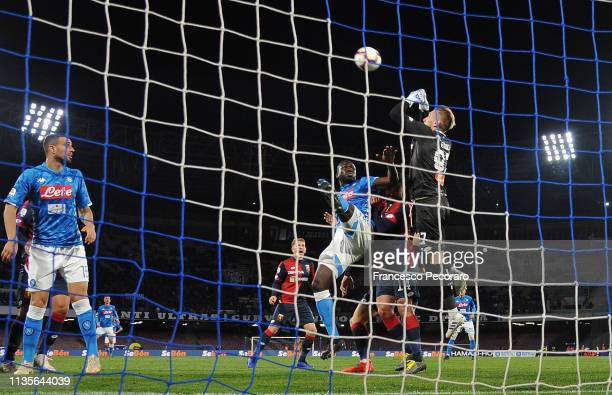 Andrei Radu in action during the Serie A match between SSC Napoli and Genoa CFC at Stadio San Paolo on April 7 2019 in Naples Italy