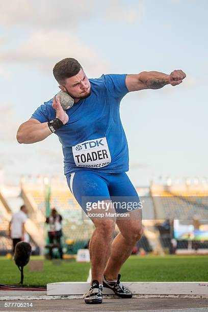 Andrei Toader from Romania competes in men's shot put during the IAAF World U20 Championships at the Zawisza Stadium on July 19 2016 in Bydgoszcz...