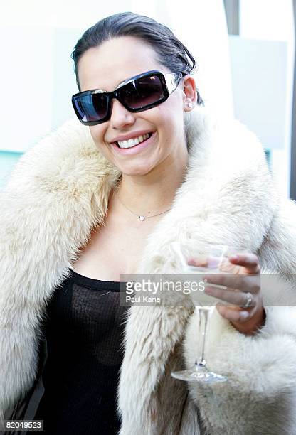 Andreia Anthony poses for a photo during a breakfast party for the official opening of Tiffany CO on King Street 24 July 2008 in Perth Australia
