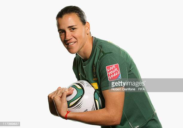 Andreia of Brazil during the FIFA portrait session on June 26 2011 in Dusseldorf Germany