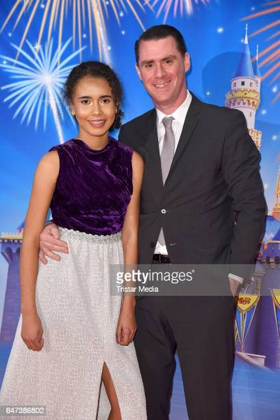 Andrej Hermlin and his daughter Rachel Hermlin attend 'Disney On Ice 100 Jahre voller Zauber' Berlin Premiere at Velodrom on March 2 2017 in Berlin...