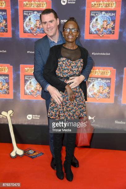 Andrej Hermlin and his wife Joyce Hermlin attend the premiere of the children's show 'Spiel mit der Zeit' at Friedrichstadtpalast on November 19 2017...