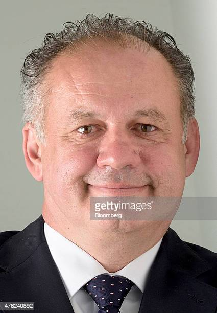 Andrej Kiska Slovakia's president poses for a photograph following an interview in London UK on Tuesday June 23 2015 Kiska is pressing his fellow...