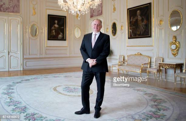 Andrej Kiska Slovakia's president poses for a photograph following an interview in Bratislava Slovakia on Thursday April 27 2017 Kiska whose own...