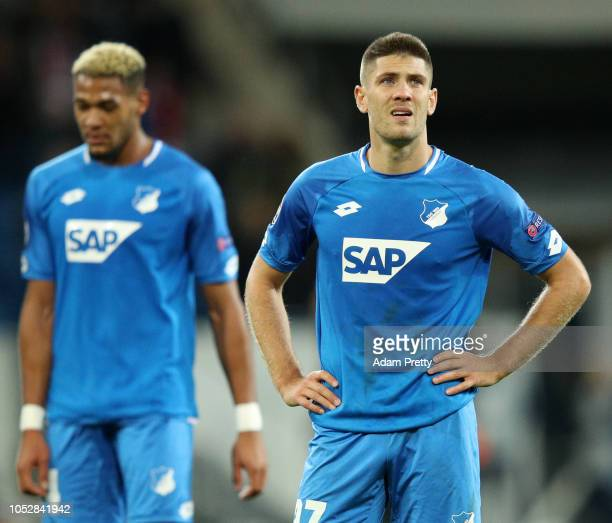 Andrej Kramaric of 1899 Hoffenheim reacts following a draw in the Group F match of the UEFA Champions League between TSG 1899 Hoffenheim and...