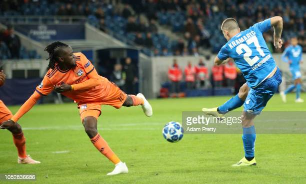 Andrej Kramaric of 1899 Hoffenheim scores his team's second goal during the Group F match of the UEFA Champions League between TSG 1899 Hoffenheim...