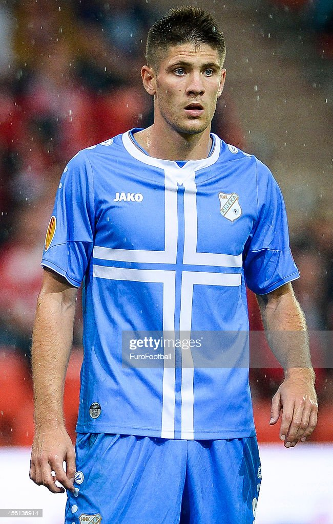 Andrej Kramaric of HNK Rijeka in action during the UEFA Europa League Group G match between R. Standard de Liege and HNK Rijeka at the Stade Maurice Dufrasne on September 18,2014 in Liege,Belgium.