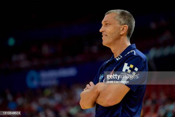 Andrej Lemanis, coach of the Bullets is pictured during the round 12 NBL match between the Sydney Kings and Brisbane Bullets at Qudos Bank Arena, on...