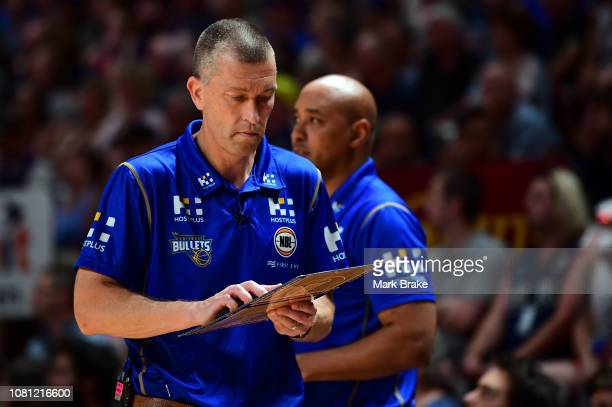 Andrej Lemanis head coach of the Bullets during the round 13 NBL match between Adelaide 36ers and the Brisbane Bullets at Titanium Security Arena on...