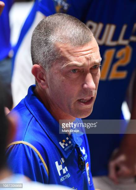Andrej Lemanis head coach of the Bullets during the round four NBL match between the Adelaide 36ers and the Brisbane Bullets at Titanium Security...