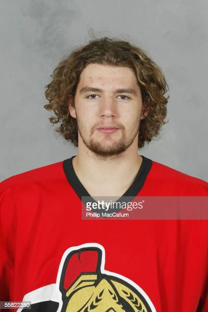 Andrej Meszaros of the Ottawa Senators poses for a portrait at Corel Centre on September 13 2005 in Ottawa Ontario Canada