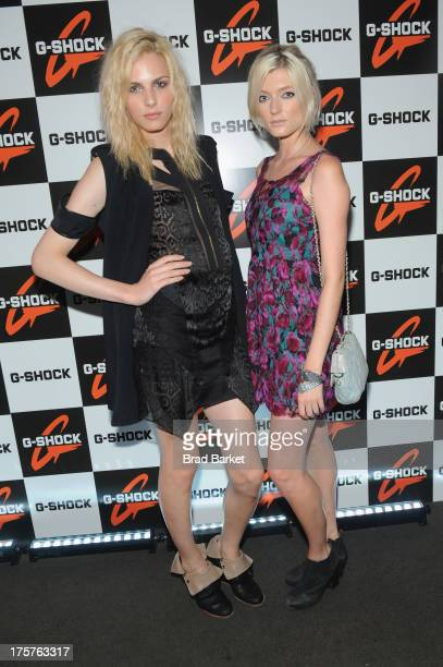 Andrej Pejic and Sophie Sumner attend GShock Shock The World 2013 at Basketball City on August 7 2013 in New York City
