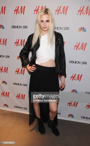 Andrej Pejic attends the HM Fifth Avenue on April 24 2012 in New York City