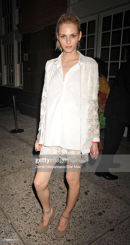 Andrej Pejic is seen on June 19, 2013 in New York City.