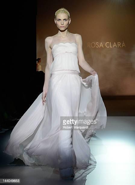 Andrej Pejic walks the runway 'Rosa Clara ' during Barcelona Bridal Week 2012 on May 8 2012 in Barcelona Spain