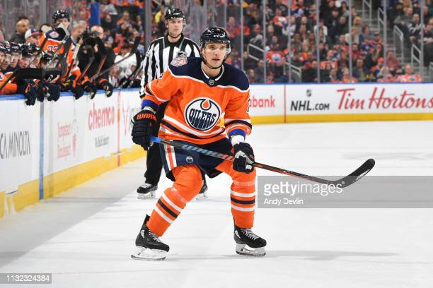 Andrej Sekera of the Edmonton Oilers skates during the game against the Ottawa Senators on March 23 2019 at Rogers Place in Edmonton Alberta Canada