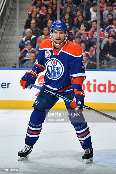 Andrej Sekera of the Edmonton Oilers skates during the game against the Chicago Blackhawks on November 21 2016 at Rogers Place in Edmonton Alberta...