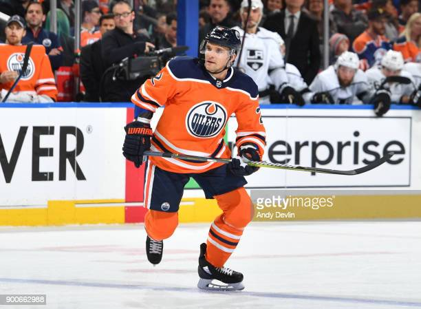 Andrej Sekera of the Edmonton Oilers skates during the game against the Los Angeles Kings on January 2 2018 at Rogers Place in Edmonton Alberta Canada