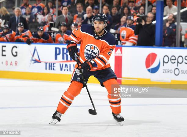 Andrej Sekera of the Edmonton Oilers skates during the game against the Nashville Predators on March 1 2017 at Rogers Place in Edmonton Alberta Canada