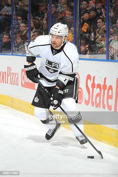 Andrej Sekera of the Los Angeles Kings skates on the ice during the game against the Edmonton Oilers on March 3 2015 at Rexall Place in Edmonton...