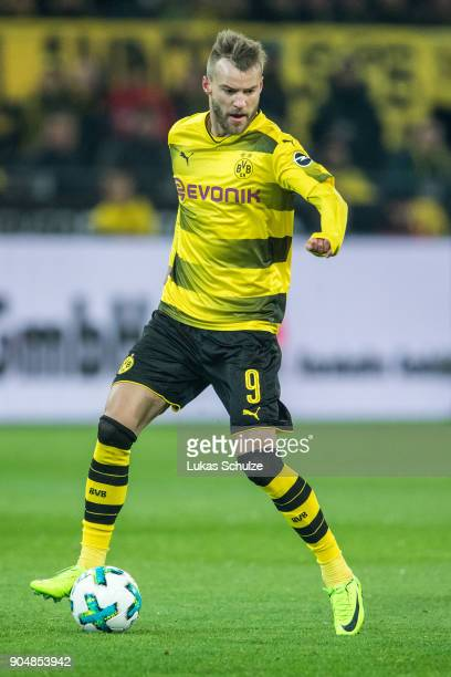 Andrej Yarmolenko of Dortmund in action during the Bundesliga match between Borussia Dortmund and VfL Wolfsburg at Signal Iduna Park on January 14...