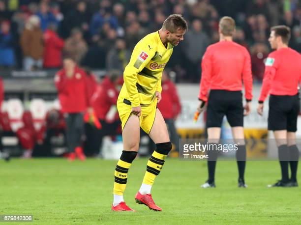 Andrej Yarmolenko of Dortmund looks dejected after the Bundesliga match between VfB Stuttgart and Borussia Dortmund at MercedesBenz Arena on November...