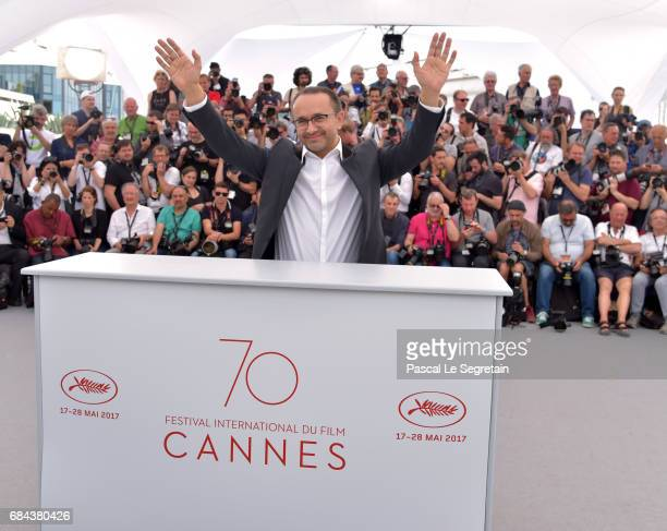 Andrej Zvjagincev attends the 'Loveless ' photocall during the 70th annual Cannes Film Festival at Palais des Festivals on May 18 2017 in Cannes...