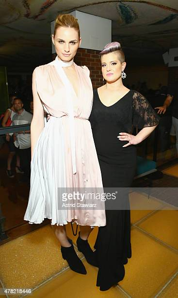 Andreja Pejic and Kelly Osbourne attends 4th Annual Solstice Presented By amfAR's generationCURE at Hudson Hotel on June 23 2015 in New York City