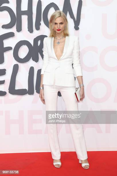 Andreja Pejic attends Fashion for Relief Cannes 2018 during the 71st annual Cannes Film Festival at Aeroport Cannes Mandelieu on May 13 2018 in...