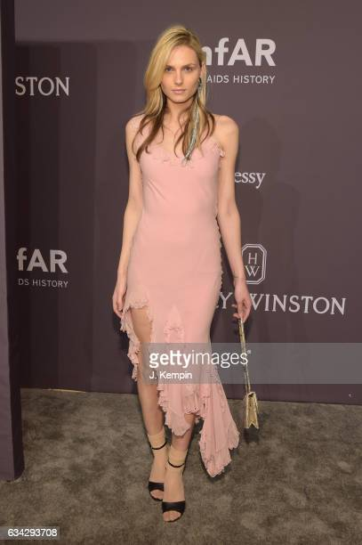 Andreja Pejic attends the 19th Annual amfAR New York Gala at Cipriani Wall Street on February 8 2017 in New York City
