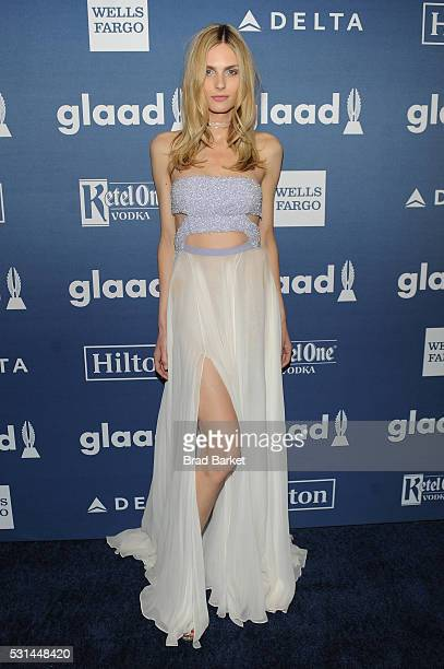 Andreja Pejic attends the 27th Annual GLAAD Media Awards hosted by Ketel One Vodka at the WaldorfAstoria on May 14 2016 in New York City