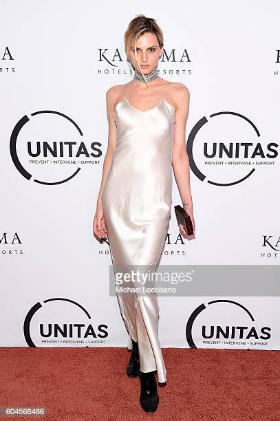 Andreja Pejic attends the UNITAS 2nd annual gala against human trafficking at Capitale on September 13 2016 in New York City