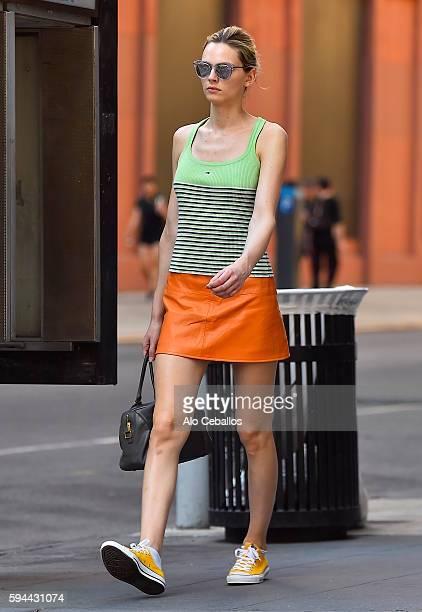 Andreja Pejic is seen in Soho on August 23 2016 in New York City